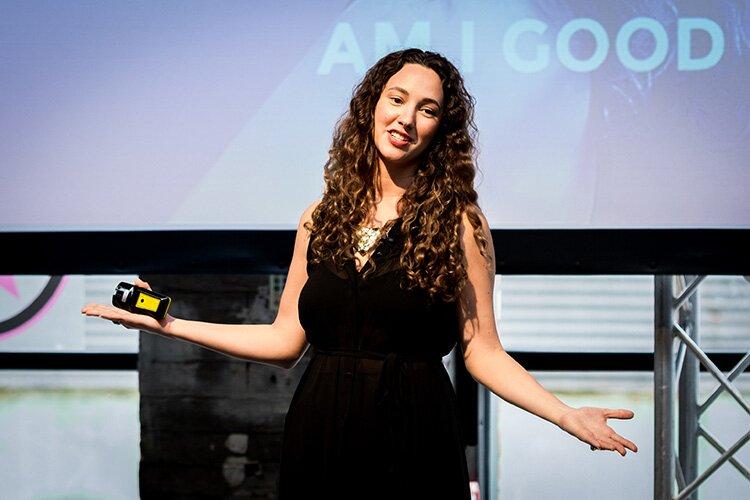 Amber Rae on Day 1 (aka Inspiration Day) of Newcastle Startup Week 2017