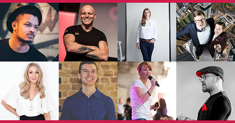 Some of the keynote speakers from Day 1 ('Inspiration') of Newcastle Startup Week 2019